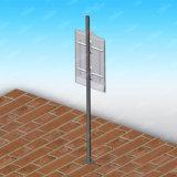 Rectángulo ligero de Adversting del poste al aire libre apuesto de la lámpara