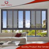 Metal de aluminio Windows de cristal de la ventana de desplazamiento con la pantalla de la mosca