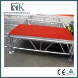 Stadium van het Aluminium van Rk toont het Draagbare met Rood Platform voor Loopbrug/Gebeurtenis