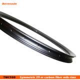 A fibra MTB do carbono orlara a borda gorda 40 milímetro 30 milímetros largos 3K elevado Matt de 29 rodas da bicicleta da bicicleta