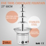 """Fuente comercial 27 los """" 68cm del chocolate de 5 gradas del fabricante del chocolate del hotel grande del partido"""
