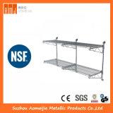 NSF Industrial 4 Tiers 800lbs Estantería estantería de malla de alambre de acero inoxidable