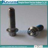 Boulon moleté Nylock de bride enduisant les pièces froides spéciales solides solubles 304 SS316 en métal de pièce forgéee