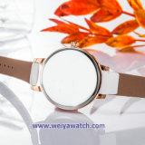 Tira de couro OEM Senhora vele Sabia Senhoras Relógios de quartzo (WY-17029C)