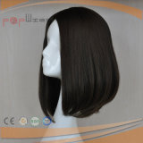 Peluca superior de seda del pelo brasileño de Brown (PPG-l-01089)