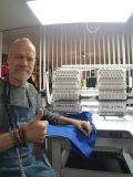 Aiguille de 2 têtes Holiauma 15 Cap/Vêtement Machine à broder broderie libre concevoir de bons prix Dahao Embroidery Machine avec système de contrôle de type Tajima & Frère