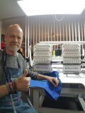 Holiauma 2ヘッド15針の帽子または衣服の刺繍機械自由な刺繍デザインDahaoの制御システム但馬及び兄弟のタイプとのよい刺繍機械価格