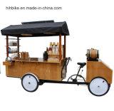 お偉方が付いている屋外の移動式コーヒーカートまたは食糧譲歩のトレーラー