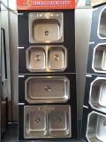 Topmountの流し50/50のステンレス鋼の流し、台所二重流し、ハンドメイドの流し、洗面器