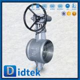 Didtek Wcb Литые стальные тройной эксцентрик приварены двухстворчатый клапан