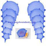 Grau alimentício trecho de silicone flexível para rotação da tampa de alimentos de sucção e Cup