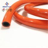 Boyau tressé de gaz de LPG de fibre de PVC pour le poêle de gaz de four