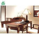 オットマンセットが付いているホテル様式の寝室の家具のベージュ革張りのいす