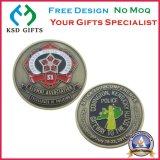 pièces de monnaie en bronze antiques d'enjeu de reproduction en métal du souvenir 3D
