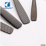 Parte elegantes talheres de metal personalizado definido, Preto Talheres