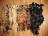 毛の大きさの未加工毛の大きさの自然なバージンのRemyのインドのクチクラのそのままな人間の毛髪の拡張大きさ