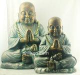 큰 크기 앙티크 작풍 Buddha 동상 훈장