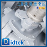 Didtek junta suave de la válvula de bola flotante de acero inoxidable con una llave funciona