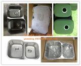 Undermount二重ボール60/40のステンレス鋼の台所の流し、洗面器、洗濯の流し