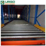 Sistema de acero del estante del rodillo de la gravedad del almacenaje del metal del almacén