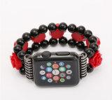 Cinta de relógio luxuosa da pedra da ágata da flor para a faixa de Apple Iwatch