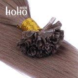 Venda por grosso de 22 polegadas queratina castanha U cutícula da ponta do cabelo alinhado