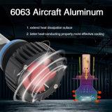 Comercio al por mayor 8000LM Ventilador de la luz de faro de luz de cruce de alta T8 9007 9005 9006 H4 H7 H11 Auto LED Bombilla del faro