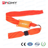 Pulsera tejida tela colorida de encargo de RFID para la promoción del acontecimiento
