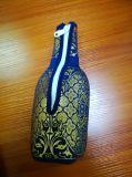 PVC высокого качества роскошный кожаный определяет изолированный держатель бутылки вина неопрена