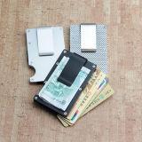 Handmade metal delgado dinero Clip con el titular de tarjeta bancaria de la artesanía