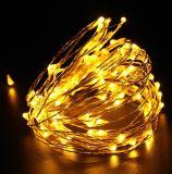 Lumière flexible de chaîne de caractères de câblage cuivre de DEL pour la décoration de Noël