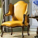 Sofá de couro cadeira com mesa de chá de móveis domésticos (8801)