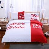 アマゾンで普及した簡単様式の寝具の一定のホーム織物(His&Herの側面)