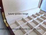 Gran colección de anillo de embalaje de madera Joyas de viajes Caja de regalo