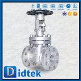 Valvola a saracinesca aumentante dell'acciaio inossidabile del gambo di Didtek con il volante con