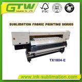 Impresora de sublimación de 1,8 m con cuatro cabezales de impresión de gran formato DX-5