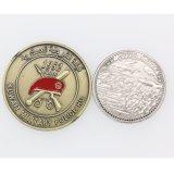 주문을 받아서 만들어진 Miltary 금관 악기 도금 3D에 의하여 각인되는 동전