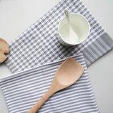 Classic algodón y lino Home Cocina servilleta de tela a rayas gris Placemat
