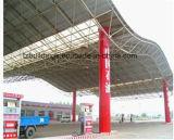 Almacén de la estructura vertida/de acero de la estación de servicio del gas