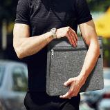 Sacola de 12 polegadas de poliéster cinza Mensagem de negócios na maleta Saco para computador portátil