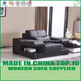 現代居間の家具の一定の革部門別の木のソファー