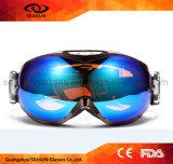 Anteojos antiniebla de la nieve de la lente del esquí de la snowboard de ojo del protector de la lente desmontable del doble