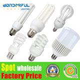 최고 중국 공장 도매 고성능 2u/3u/4u 에너지 절약 가벼운 점화 5watt 9W E27 T3/T4/T5 가득 차있는 절반 나선형 관 CFL 램프 로터스 에너지 절약 LED 전구
