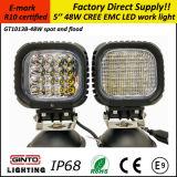 Heißes Verkauf 48W 5 '' IP68 E-MARK R10 LED Arbeits-Licht für nicht für den Straßenverkehr