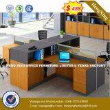 Armoire en bois moderne de verre aluminium / bureau de poste de travail Partition (HX-8NR0002)