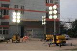 옥수수 속 프로젝트 램프 이동할 수 있는 등대 디젤 엔진 발전기 휴대용 LED 탑 빛 윈치의 6개 피스
