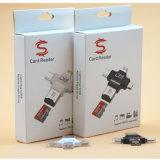 4 en 1 USB OTG C-Type de lecteur de carte micro SD de foudre pour iPhone et Android téléphone mobile