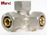 La alta calidad de compresión de latón niquelado adaptador en T hembra