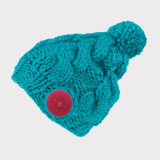 Colore senza fili di lavoro a maglia caldo del cappello quattro del Mic Bluetooth dell'altoparlante della cuffia di Bluetooth della protezione astuta delle donne di Muisc di inverno facoltativo