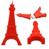 Memoria Flash grigia del USB della Torre Eiffel di Eiffel di giro di Parigi